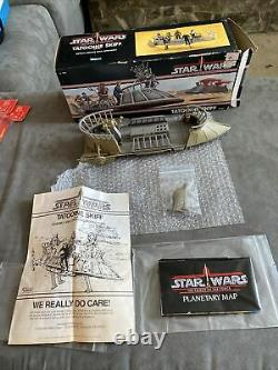 Vintage kenner Star Wars POTF TATOOINE SKIFF. Complete With Box. Excellent! AFA