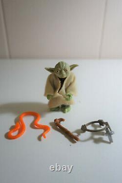 Yoda Vintage Star Wars Kenner 1980 Complete with Orange Snake Robe and Cane
